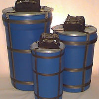 3 sizes of blue cargo delivery systems made by Butler