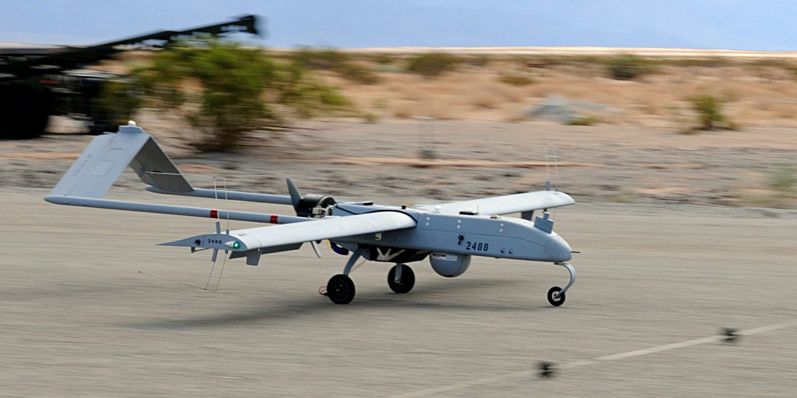 UAV on a runway