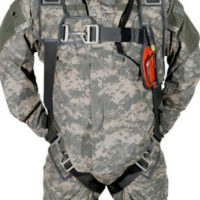 soldier wearing Butler Advanced Tactical parachute