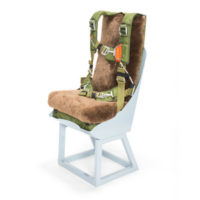 warbird seat parachute in army green