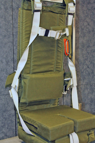 army green FOAM LUMBAR SUPPORT displayed in seat